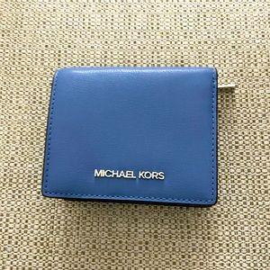 Michael Kors Card Case wallet Pale blue